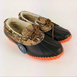 JBU Jambu Gwen Brown Python Coral Duck Shoes 7.5